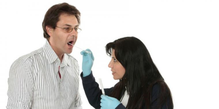 Mouth swab for paternity test